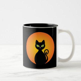 黒猫 ツートーンマグカップ