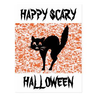 黒猫-ハロウィン ポストカード