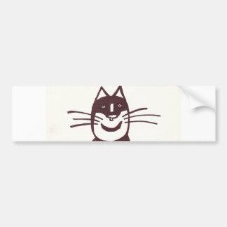 黒猫 バンパーステッカー