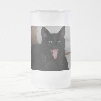 黒猫 フロストグラスビールジョッキ