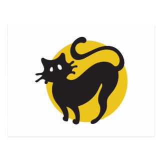 黒猫 ポストカード