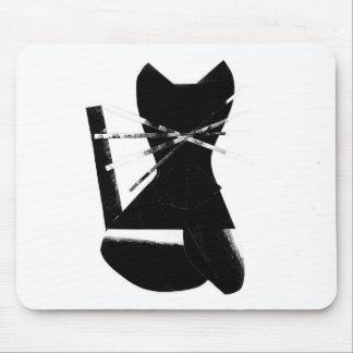黒猫 マウスパッド