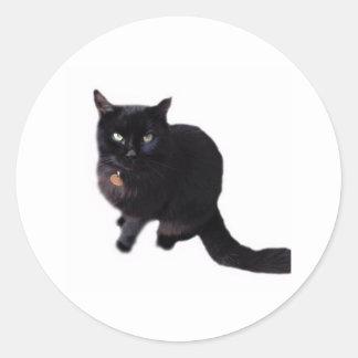 黒猫 ラウンドシール
