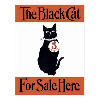 黒猫-ヴィンテージポスター ポストカード