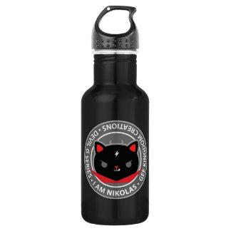 黒猫、悪魔のNikolasの自由のボトル ウォーターボトル