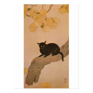 黒猫、春草の黒猫、Shunsō ポストカード