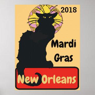 黒猫、謝肉祭は、文字を編集します ポスター