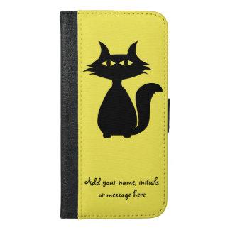 黒猫 iPhone 6/6S PLUS ウォレットケース
