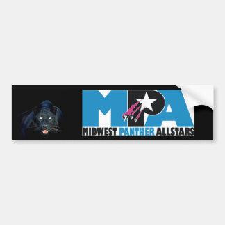 黒猫MPAのステッカー バンパーステッカー