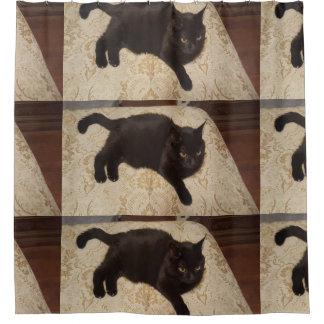 黒猫Roxie シャワーカーテン