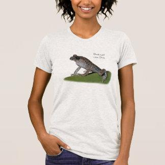 黒目のくずカエルのTシャツの女性 Tシャツ
