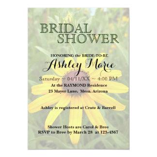 黒目のスーザンのシャワーの招待状 カード