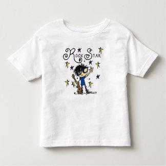 黒髪の男の子のロックスター トドラーTシャツ
