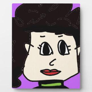 黒髪を搭載する女性 フォトプラーク
