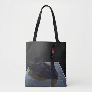 黒鳥、しぶき、中型の完全なプリントのトートバック トートバッグ