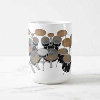 黒10部分のドラムキット-コーヒー・マグ コーヒーマグカップ