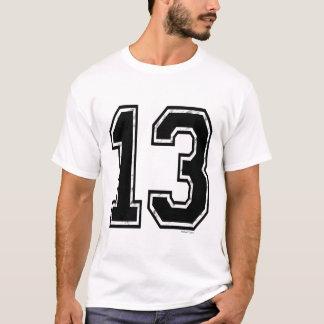 黒13数 Tシャツ