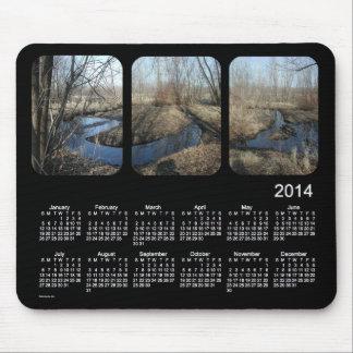 黒2014の景色のカレンダー マウスパッド