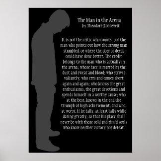 黒20 x 29の競技場の灰色の人 ポスター
