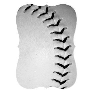 黒|ステッチ|野球|/|ソフトボール カスタム案内状