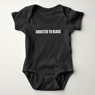 黒 ベビーボディスーツ