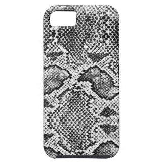 黒 及び 白い Snakeskin パターン iPhone 5 Case-Mate ケース