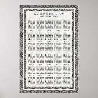 黒+図表をつける白いSeigaihaの結婚式かイベント ポスター