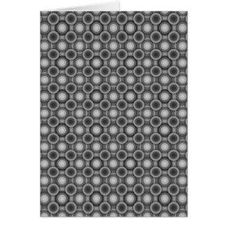 黒、灰色および白い目の錯覚の円 カード