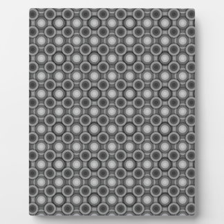 黒、灰色および白い目の錯覚の円 フォトプラーク