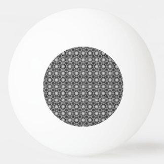 黒、灰色および白い目の錯覚の円 卓球ボール