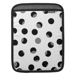 黒、白いそして灰色むらがあるパターン iPadスリーブ