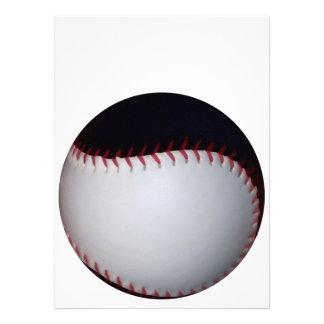 黒 白い 野球 ソフトボール カスタム招待状