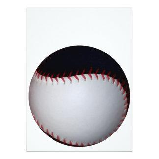黒|白い|野球|/|ソフトボール カスタム招待状