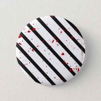 黒、白および赤 5.7CM 丸型バッジ