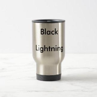 黒、稲妻 トラベルマグ