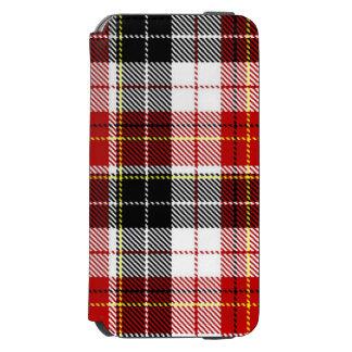 黒+赤いチェック模様の箱 iPhone 6/6Sウォレットケース