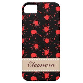 黒|赤い|血|(ばちゃばちゃ)跳ねる|パターン Case-Mate iPhone 5 ケース