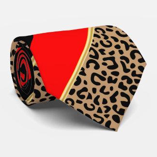 黒、金ゴールドおよび赤い対角線のストライプのヒョウ タイ