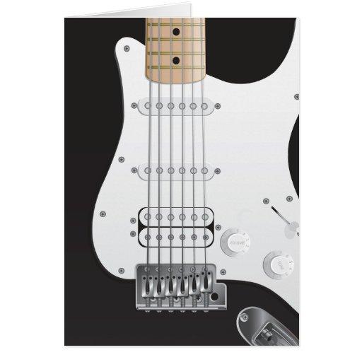 黒 電気 ギター ノート カード 設計 カード