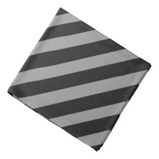 黒「nの灰色の海賊ストライプなバンダナ バンダナ