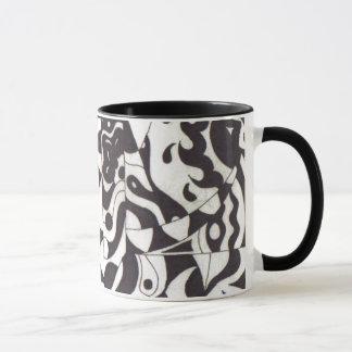 黒「nの白の季節 マグカップ