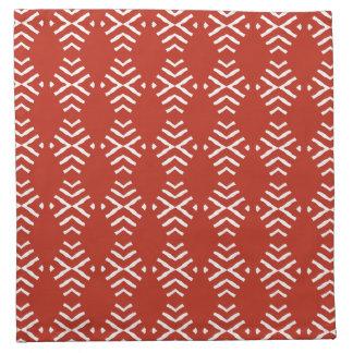 黙した赤の抽象芸術の4のナプキンセット ナプキンクロス