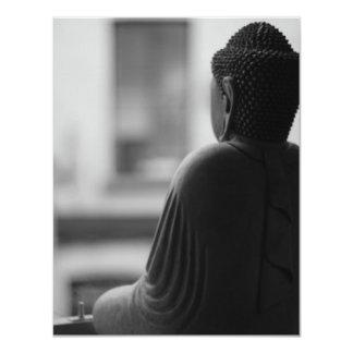 黙想に坐っている仏 カード