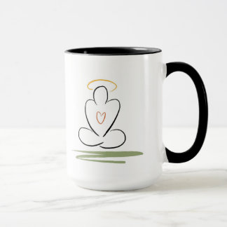 黙想の中型人によって禅インスパイアデザインのマグ マグカップ