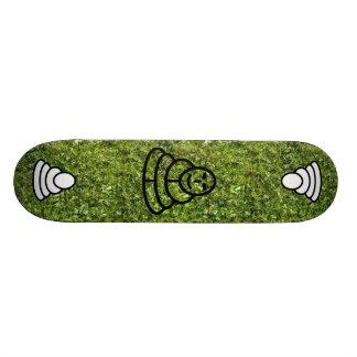 黙想の人との野草およびクローバーの質 19.7CM スケートボードデッキ