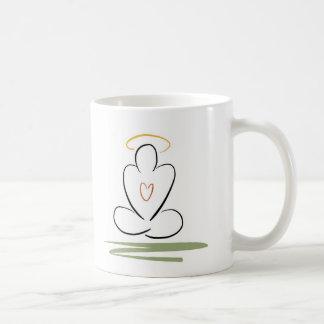 黙想の人によって禅インスパイアアートワークの標準サイズ コーヒーマグカップ