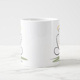 黙想の人のデザイン20のoz。 ジャンボマグ ジャンボコーヒーマグカップ