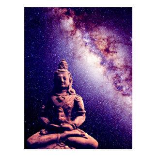 黙想の仏の銀河系の宇宙の平和愛芸術 ポストカード