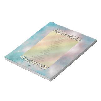 黙想のUの一突き色の生命変更の単語 ノートパッド