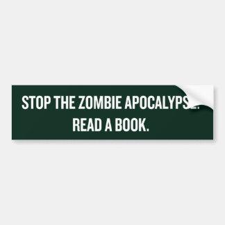 黙示録が本を読んだゾンビをストップ バンパーステッカー